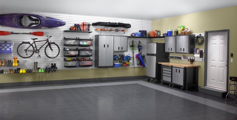 tidy-and-neat-garage-cabinet-build-in-on-wall-with-bicycle-on-it